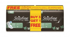 28 pads,Stayfree pads,discount on Stayfree,buy 3 Get 1 Free,Stayfree pade at lowest price