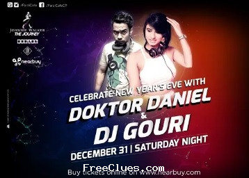 Nearbuy [Celebrate New Year] Farzi Cafe Couple Entry - DJ Party, Dinner & Unlimited Drinks