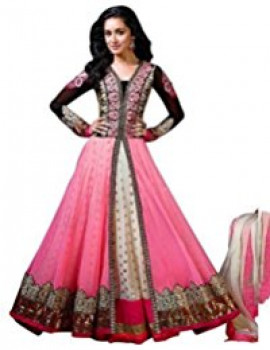 249c32b807f201 Womens Clothy Women's Gown Latest Party Wear Designer Net silk Embroidery Free  Size Salwar Suit Dress