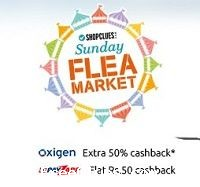 Shopclues Sunday Flea Market Sale: products starts at Rs. 15 + 50% cashback