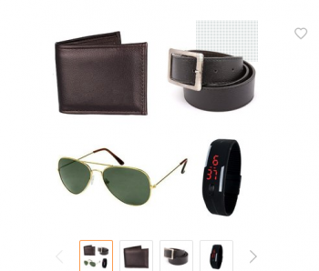 Shopclues iLiv Black SG With Black Wallet, belt and Led Band Watch combo