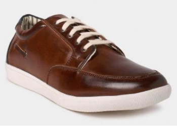 Abof Flat 50% Off + Extra Rs.100 Off on Men Brown Sneakers