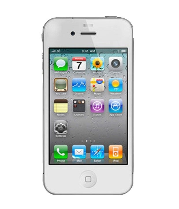 iphone 4s refurbished moskart apple iphone 4s 16gb white refurbished at rs 2881
