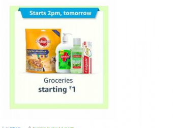 Hot Deal [Upcoming] Amazon Prime Day 15 July 2 PM :- Get Groceries Starting @ 1₹