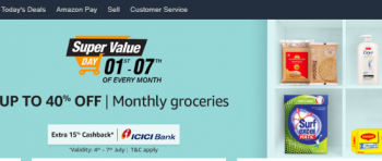 Amazon Super Value Day 1-7of Every Month