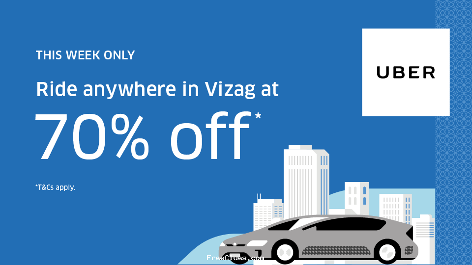 uber Get 70% Off On Your Next 4 Rides 10th - 11th sept Sep