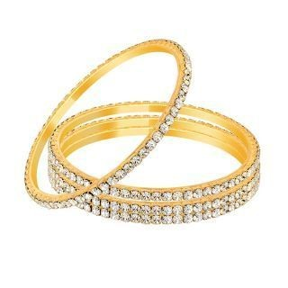 Shopclues Golden And Silver Bangles - Set Of 4 at rs. 89/- only
