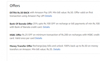Hot Deal 100% CASHBACK Upto Rs.20/25 on recharges or bill payments on 1st Transaction of the month (User Specific)
