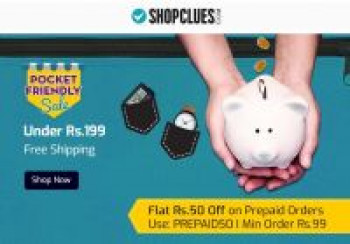 Shopclues Below Rs.199 With Free Shipping Pocket Friendly Sale