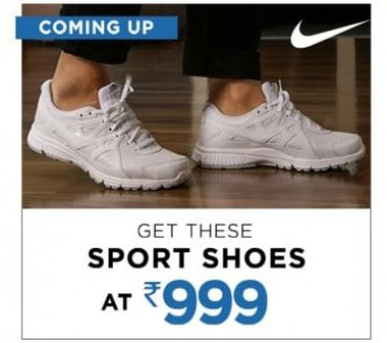0fed6d252186 Myntra Nike Sports Shoes at Rs. 999 May 2019