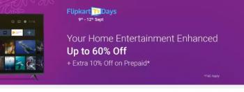 Flipkart Tv days sale start 9-12 sept