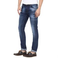 Super-X Blue Skinny Fit Jeans For Men-abc44c
