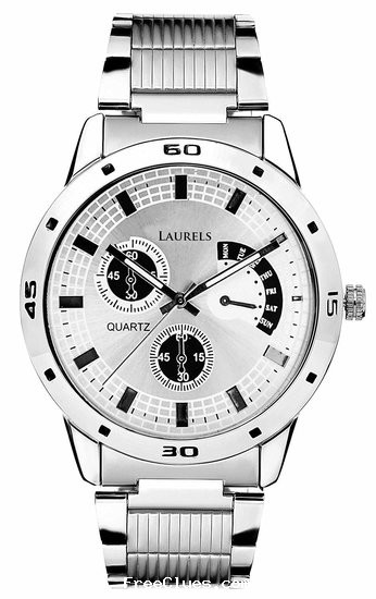 mrvoonik Laurels MatrIx SILVER Dail Men's Analog Watch