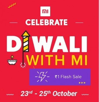 (24th to 29th Oct ) Diwali with Mi Rs.1 Flash sale at 4PM