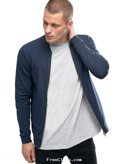mrvoonik Young Trendz Baseball Collar Zipper Bomber Jacket