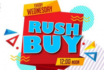 Every Wednesday Rush Buy at 12 Noon
