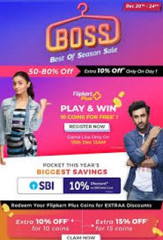 Flipkart End of season BOss sale Fashion sale