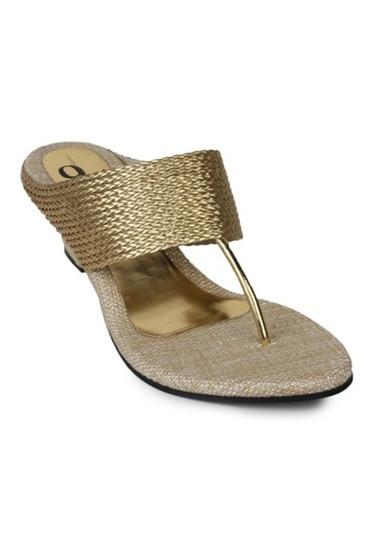 mrvoonik Women Party Wear Casual Gold Heels