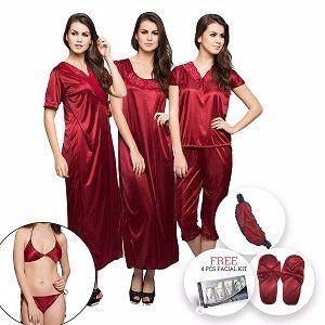 64233d7e88 Clovia 12 piece MAROON nightwear set Jul 2019 | Freeclues