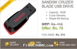 7fdc16ea4ee EBay Sandisk Cruzer Blade 16 Gb pendrive   Rs. 79 - only Jun 2019 ...