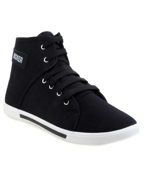 mrvoonik D-ROCK Black Boxer Casual Shoes For Men