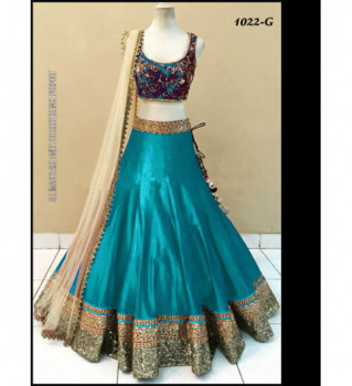 92844beaba kraftly New Special Multi Embroidery Banglori Silk Lehenga Choli Jul ...