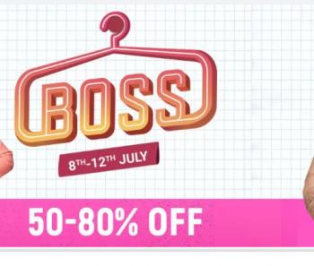 Flipkart End of season Boss sale Fashion sale 8-12july