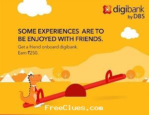 Digibank Refer & Earn : Get Rs.250 per referral