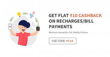 Rs.10 Cashback on Recharge of Rs 10