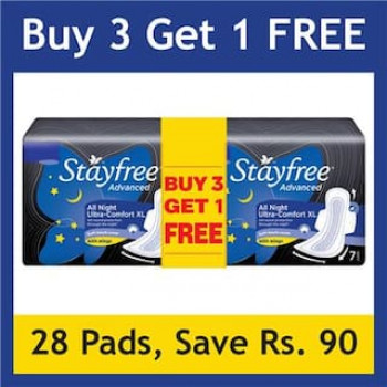 Price Down: Stayfree Advanced All Night 7s Buy 3 Get 1 FREE