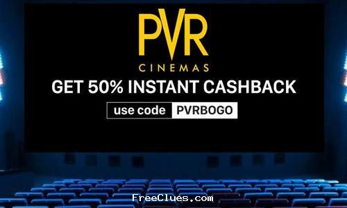 Rs.500 PVR Cinemas Voucher + Rs. 300 Cashback