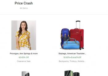 Flipkart Fashion Days Price Crash Sale