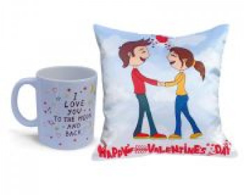 Collectible India Valentine Gift Combo Pack Valentine Gift For Boyfriend Romantic Printed Cushion Cover Pillow With