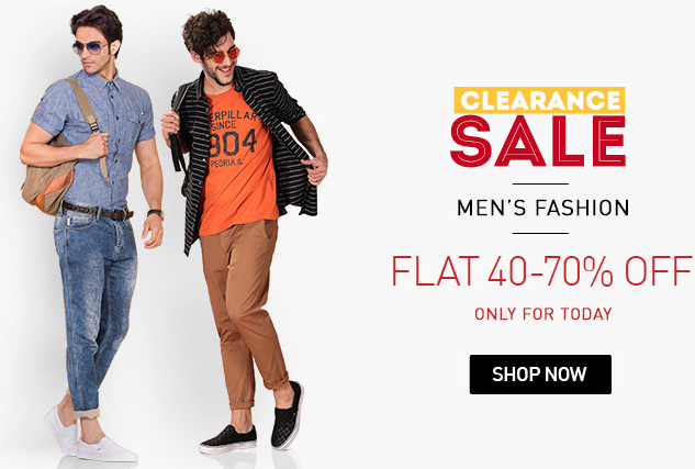 d10b07495b07 Snapdeal Clearance Sale: Flat 40%-70% off on Clothing, Footwear ...