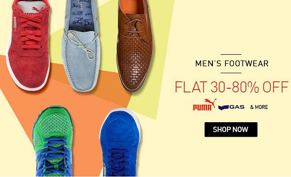 3fa8f7b2373 Snapdeal Men s Shoes Sale  Flat 30% - 80% off on branded men s Footwear