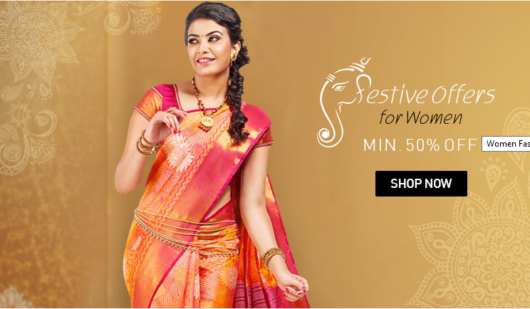 e723f03f4d8 Snapdeal Festival offers for women minimum 50% off on all purchase ...