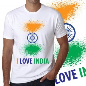 8581eed53 Askmebazaar Combo of I Love India Flag T-shirt, Frazzer Duffle Bag, Digital