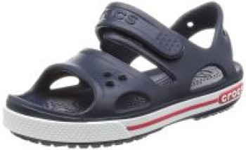09e04a6ed (Size C9) crocs Boy s Crocband II PS Sea Blue and White Rubber Sandals and