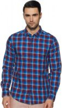 [Size L] United Colors of Benetton Men's Checkered Slim fit Casual Shirt