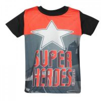 SUPERHEROES UNLIMITED Digital Print Boys Tshirt D30