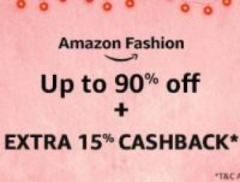 Deal of the day Upto 90% Off + Extra 15% Cashback on Amazon Fashion
